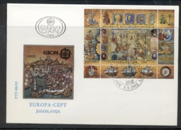 Yugoslavia 1992 Europa Columbus Discovery Of America MS FDC - FDC