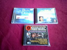 COLLECTION DE 3 CD ALBUMS  DE BANDE ORIGINAL DE  FILM ° LE CHATEAU DES OLIVIERS + LE BLEU DE L'OCEAN + LES SUCCES DU CIN - Filmmusik