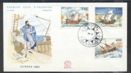 Monaco 1992 Europa Columbus Discovery Of America FDC - FDC