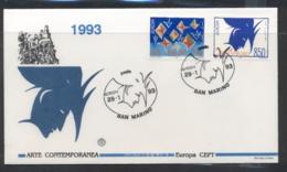 San Marino 1993 Europa Modern Art FDC - FDC