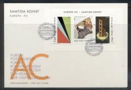 Sweden 1993 Europa Modern Art MS FDC - FDC