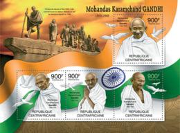 Central Africa 2012  Mohandas Karamchand Gandhi , Flag Of India - Central African Republic