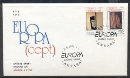 Turkey 1993 Europa Modern Art FDC - 1921-... Republic