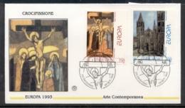 Vatican 1993 Europa Modern Art FDC - FDC
