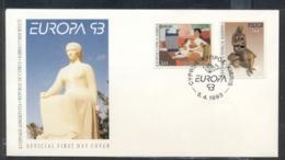 Cyprus 1993 Europa Modern Art FDC - Cyprus (Republic)
