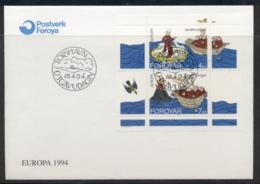 Faroe Is 1994 Europa Scientific Discoveries MS FDC - Faroe Islands
