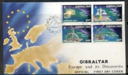 Gibraltar 1994 Europa Scientific Discoveries FDC - Gibraltar