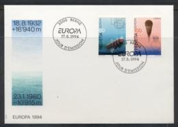 Switzerland 1994 Europa Scientific Discoveries FDC - FDC