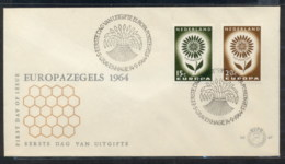 Nederland 1964 Europa Daisy Of Petals FDC - FDC