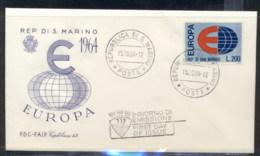 San Marino 1964 Europa FDC - FDC