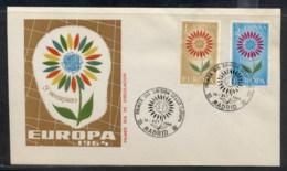 Spain 1964 Europa Daisy Of Petals FDC - FDC