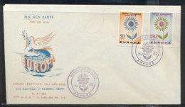 Turkey 1964 Europa Daisy Of Petals FDC - 1921-... Republic