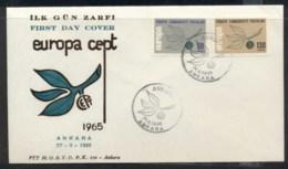 Turkey 1965 Europa Leaves & Fruit FDC - 1921-... Republic