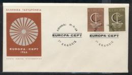 Greece 1966 Europa Sailboat FDC - FDC