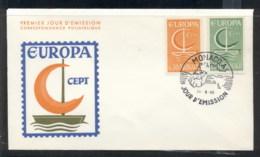 Monaco 1966 Europa Sailboat FDC - FDC