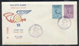 Turkey 1966 Europa Sailboat FDC - FDC
