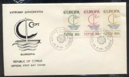 Cyprus 1966 Europa Sailboat FDC - Cyprus (Republic)