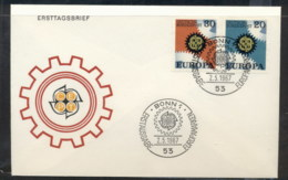 Germany 1967 Europa Cogwheels FDC - [7] Federal Republic