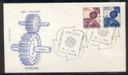 Italy 1967 Europa Cogwheels FDC - 6. 1946-.. Republic