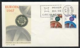Spain 1967 Europa Cogwheels FDC - FDC
