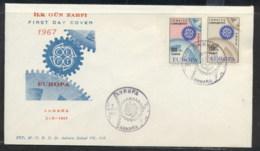 Turkey 1967 Europa Cogwheels FDC - 1921-... Republic