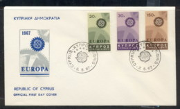 Cyprus 1967 Europa Cogwheels FDC - Cyprus (Republic)