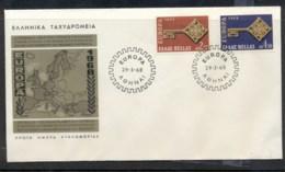 Greece 1968 Europa Key With Emblem FDC - FDC
