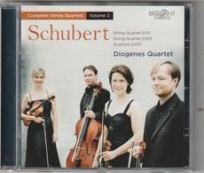Cd  SCHUBERT  Diogenes Quartet   Etat: TTB Port 110 GR - Classique