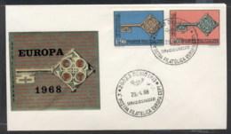Italy 1968 Europa Key With Emblem FDC - 6. 1946-.. Republic