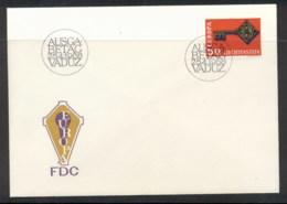 Liechtenstein 1968 Europa Key With Emblem FDC - FDC