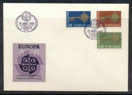Portugal 1968 Europa Key With Emblem FDC - FDC