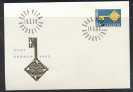 Switzerland 1968 Europa Key With Emblem FDC - FDC