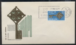 Spain 1968 Europa Key With Emblem FDC - FDC