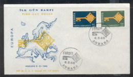 Turkey 1968 Europa Key With Emblem FDC - FDC