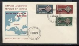 Cyprus 1968 Europa Key With Emblem FDC - Cyprus (Republic)