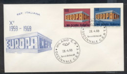 Italy 1969 Europa Building FDC - 6. 1946-.. Republic