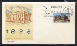 Spain 1969 Europa Building FDC - FDC