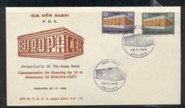 Turkey 1969 Europa Building FDC - 1921-... Republic