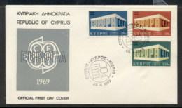 Cyprus 1969 Europa Building FDC - Cyprus (Republic)