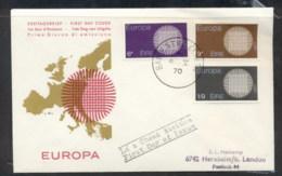 Ireland 1970 Europa Woven Threads FDC - FDC