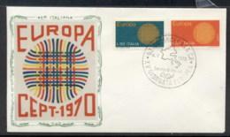 Italy 1970 Europa Woven Threads FDC - 6. 1946-.. Republic