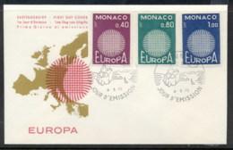 Monaco 1970 Europa Woven Threads FDC - FDC