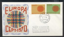 San Marino 1970 Europa Woven Threads FDC - FDC