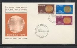 Cyprus 1970 Europa Woven Threads FDC - Cyprus (Republic)