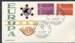 Italy 1971 Europa Chain Through O FDC - 6. 1946-.. Republic