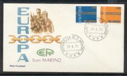San Marino 1971 Europa Chain Through O FDC - FDC
