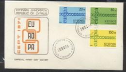 Cyprus 1971 Europa Chain Through O FDC - Cyprus (Republic)
