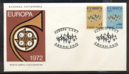 Greece 1972 Europa Sparkles FDC - FDC