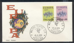 Italy 1972 Europa Sparkles FDC - 6. 1946-.. Republic