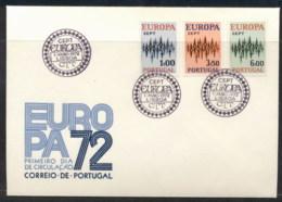 Portugal 1972 Europa Sparkles FDC - FDC